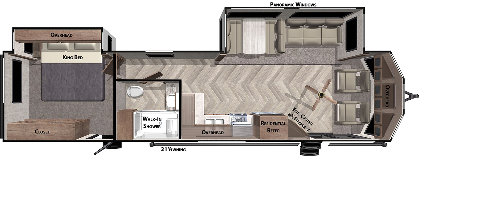 New 2021 Forest River 353Flfb OR1723