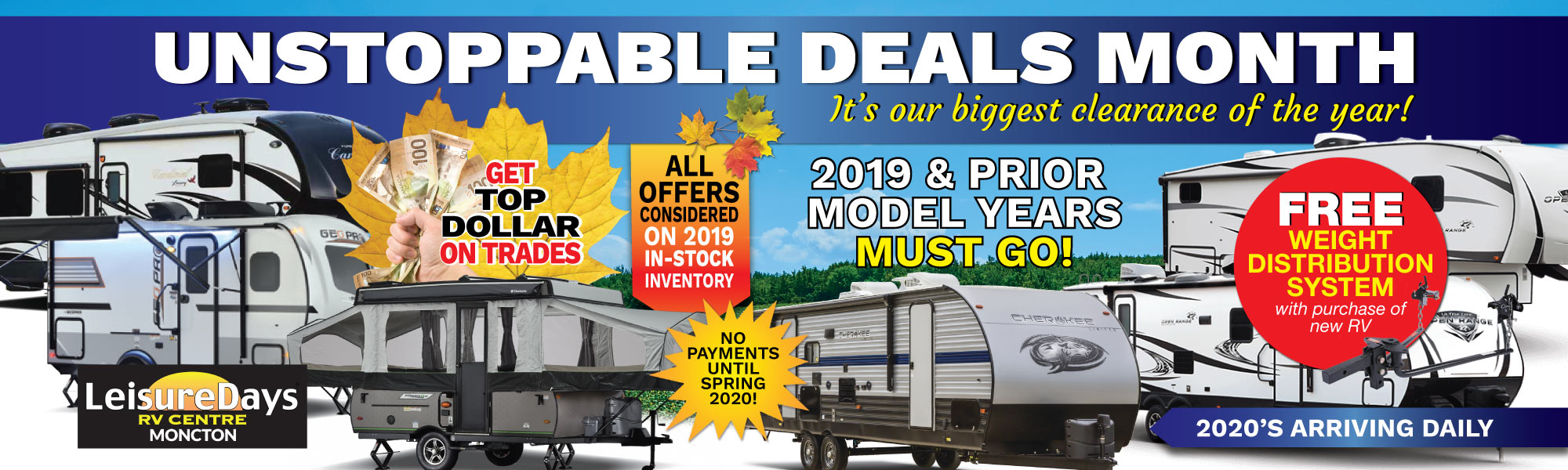 Home - Moncton area RV dealer for new and used RVs, parts