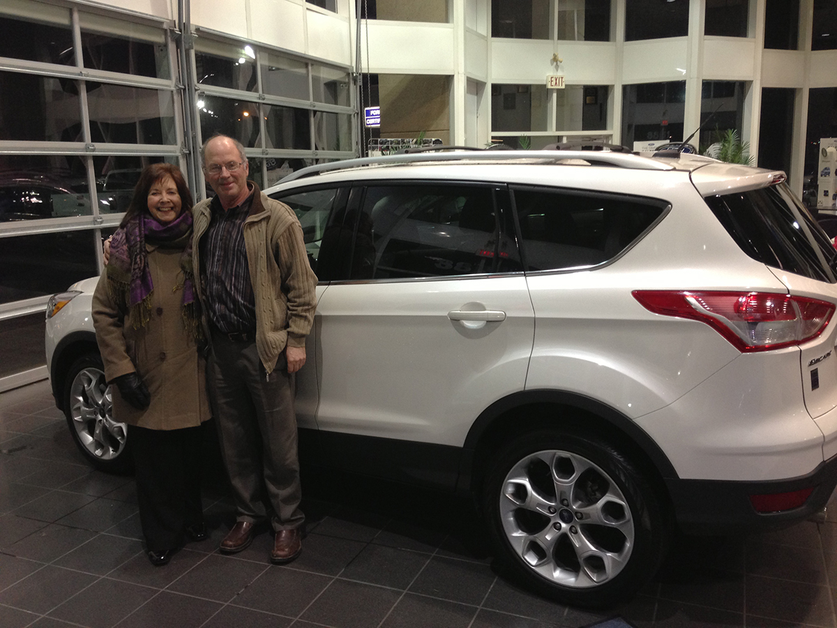 Special thanks to The Vincent's whom kicked off the SPCA Fundraiser by coming in the first day of January to purchase their 2013 Ford Escape