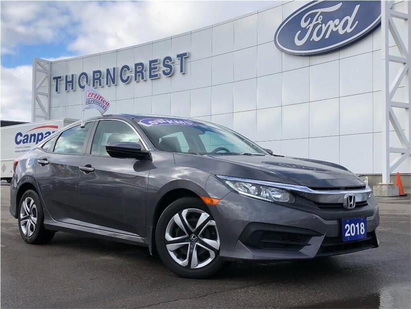 Used 2018 Honda Civic-Sedan LX 021975